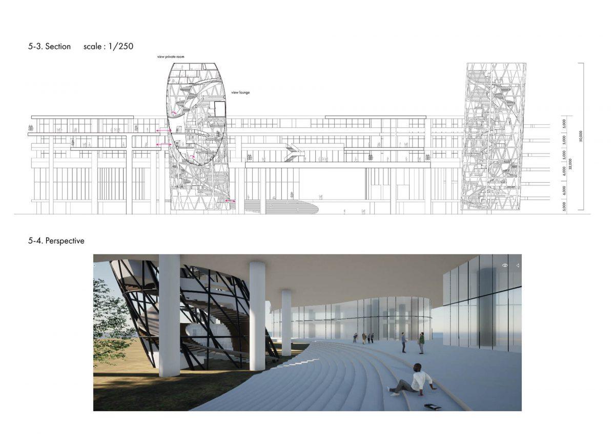 地上に宇宙を挿入する -複合施設としての宇宙エレベーター基地の設計--9