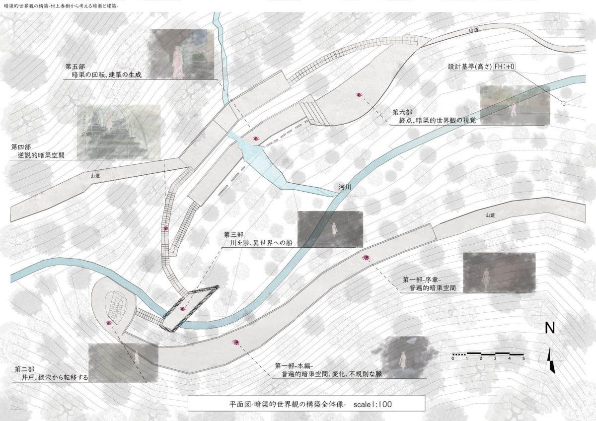 暗渠的世界観の構築-村上春樹作品から考える暗渠と建築-3