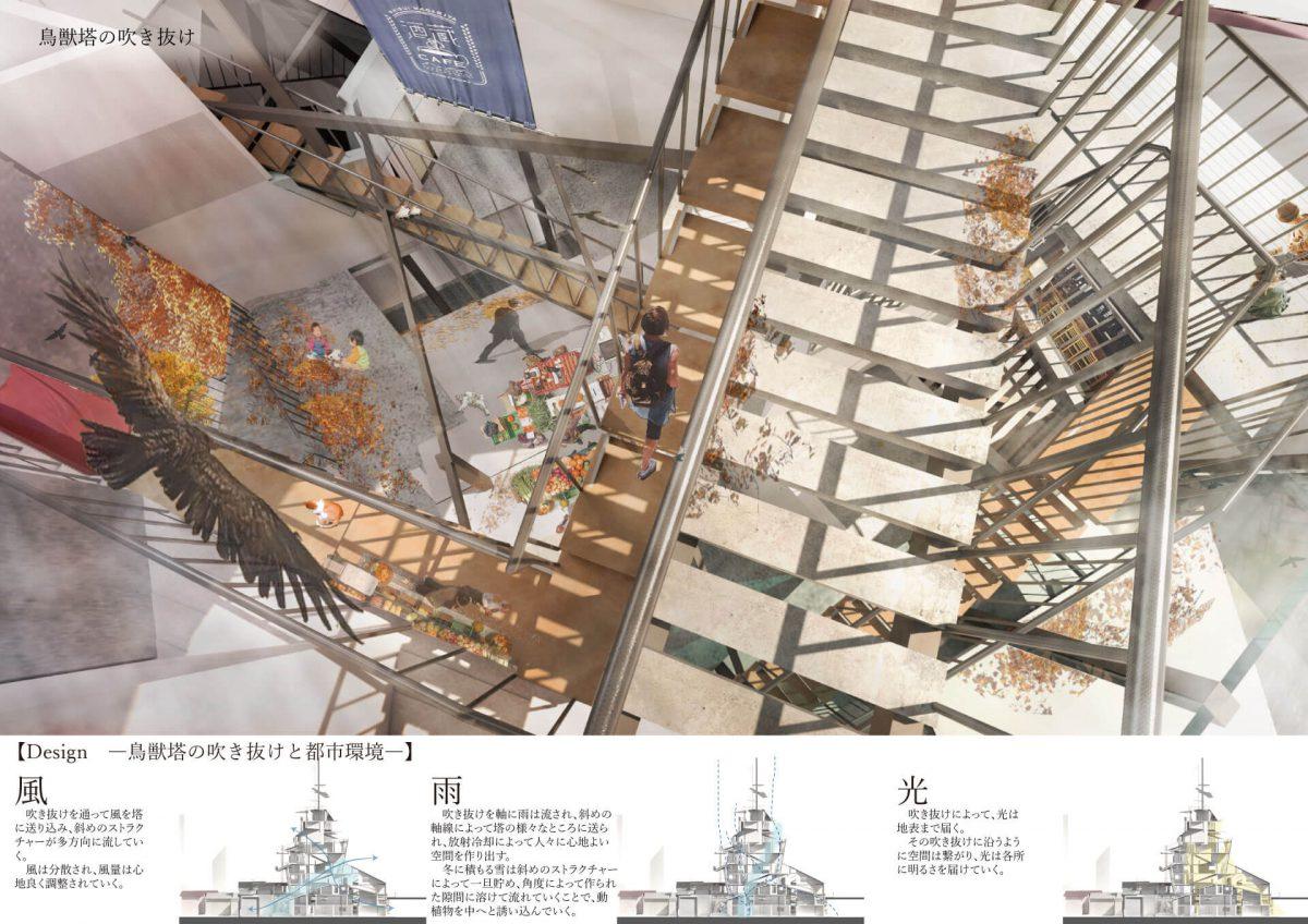 鳥獣塔 -想像を誘う 街の塔--7