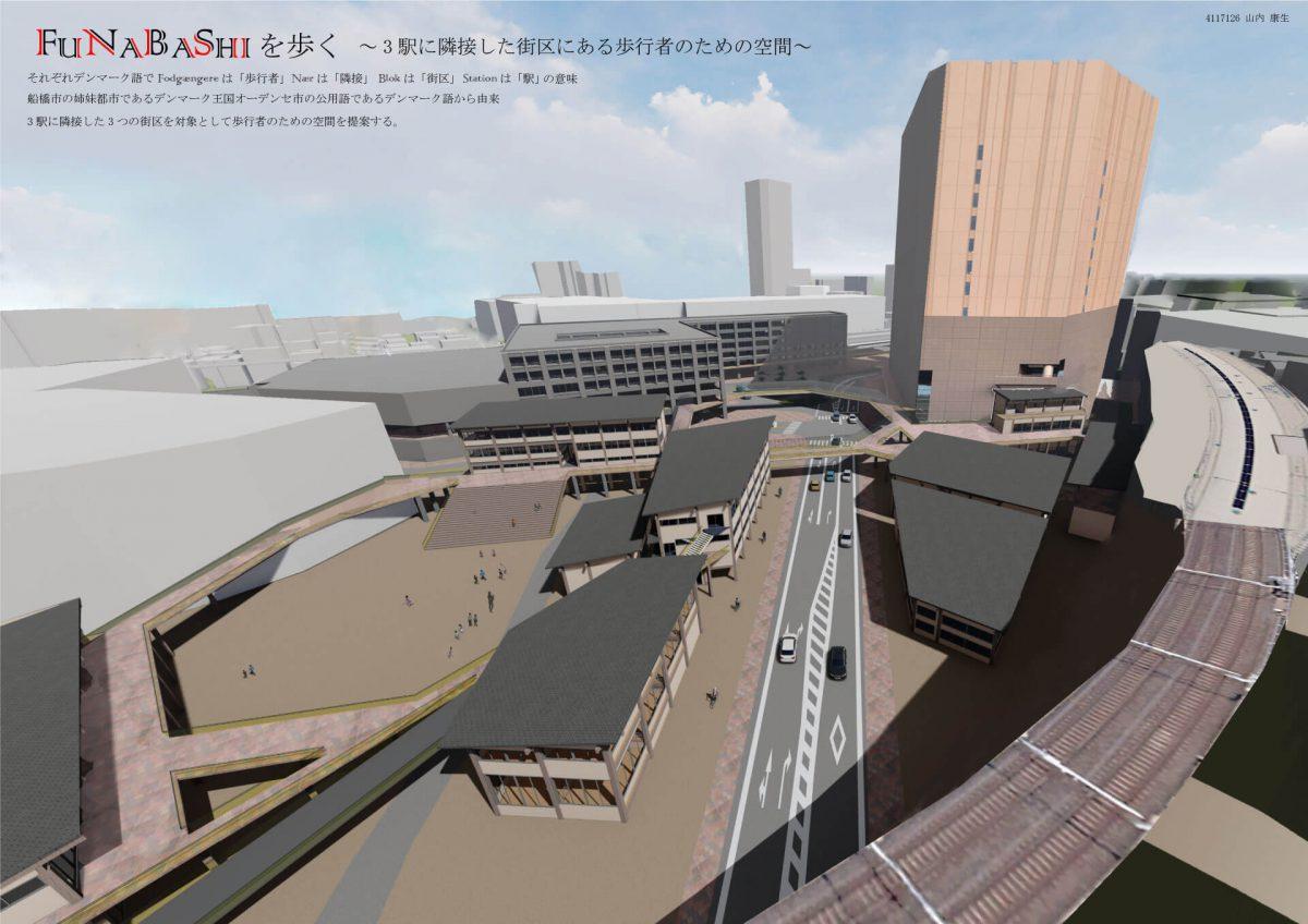 FUNABASHI を歩く -3駅に隣接した街区にある歩行者のための空間--1