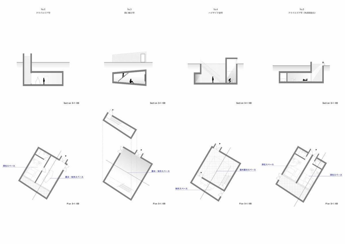地下を利用したアーティスト・イン・レジデンス施設の提案 -狭小住宅における地下居室の定量分析を通して--7