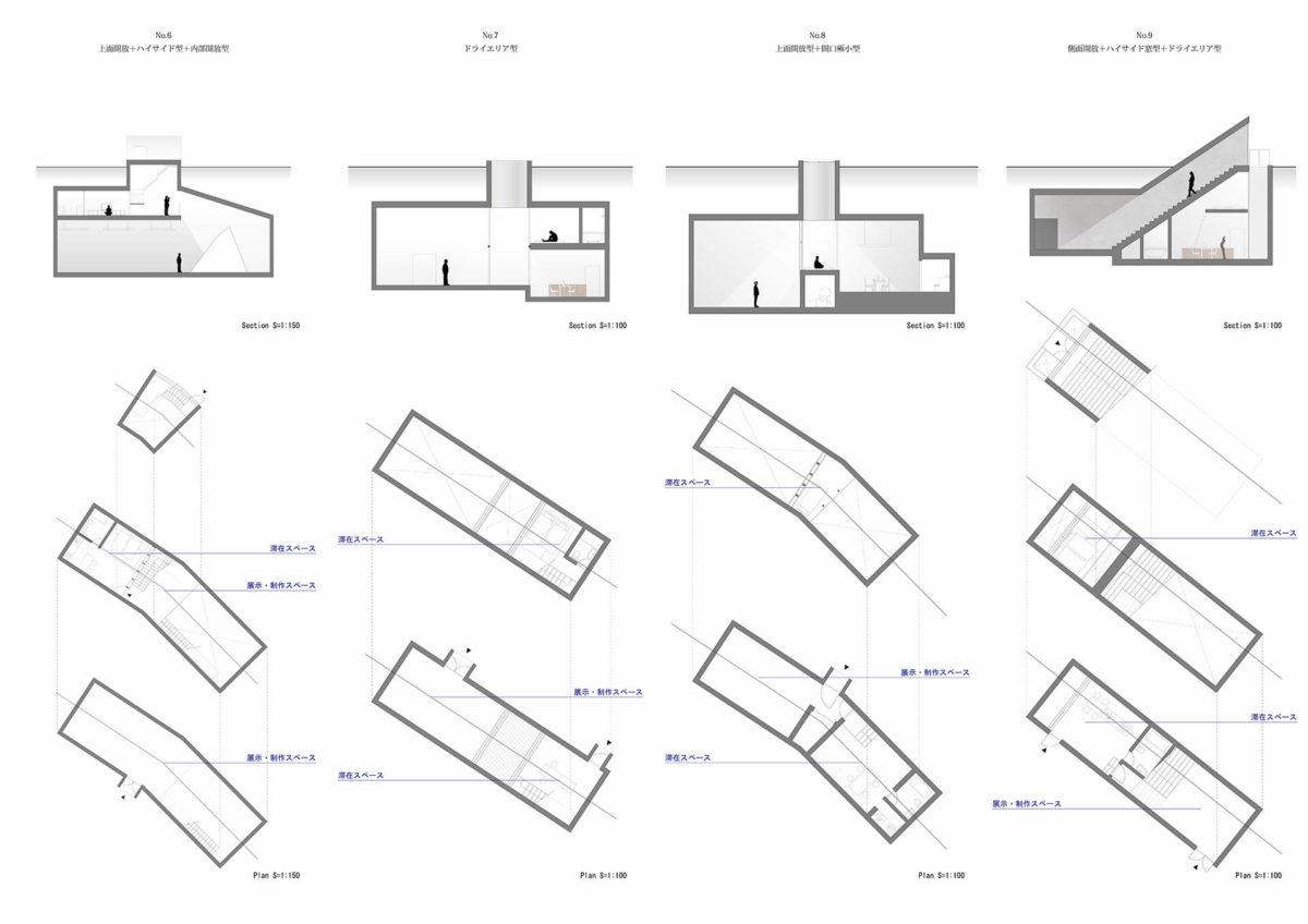 地下を利用したアーティスト・イン・レジデンス施設の提案 -狭小住宅における地下居室の定量分析を通して--8