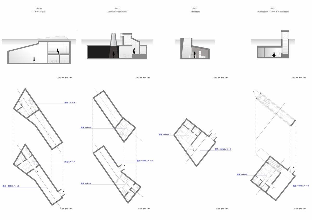 地下を利用したアーティスト・イン・レジデンス施設の提案 -狭小住宅における地下居室の定量分析を通して--9