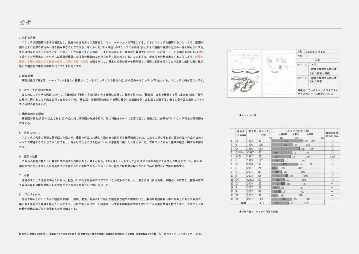 建築家のスケッチにみられる祖型を用いた建築の提案 -青木淳の住宅作品におけるスケッチの分析を通して--2