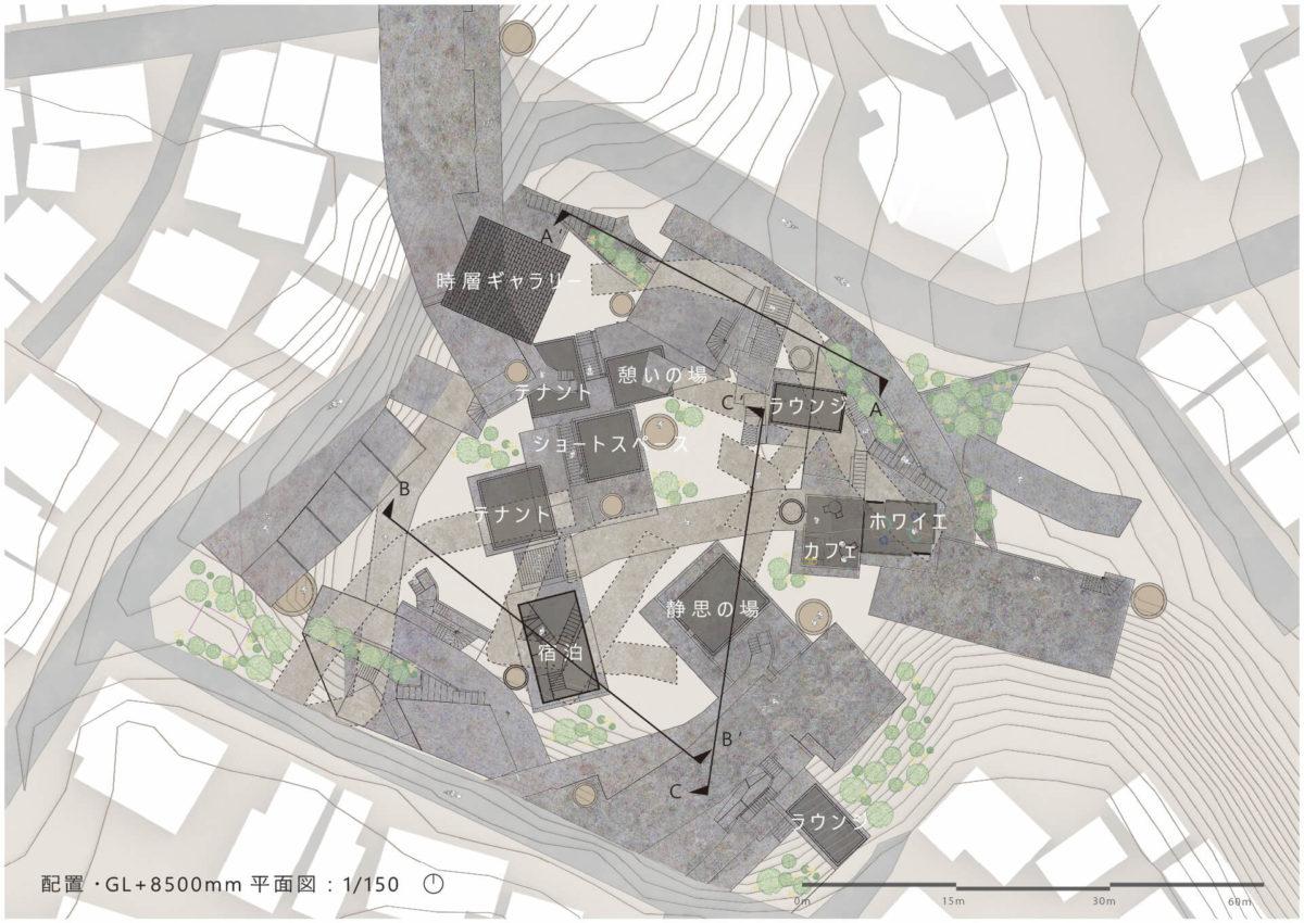 """地勢と時層の特異性から創出する建築 -赤羽台地の建築と""""基盤""""を応用した設計手法--6"""