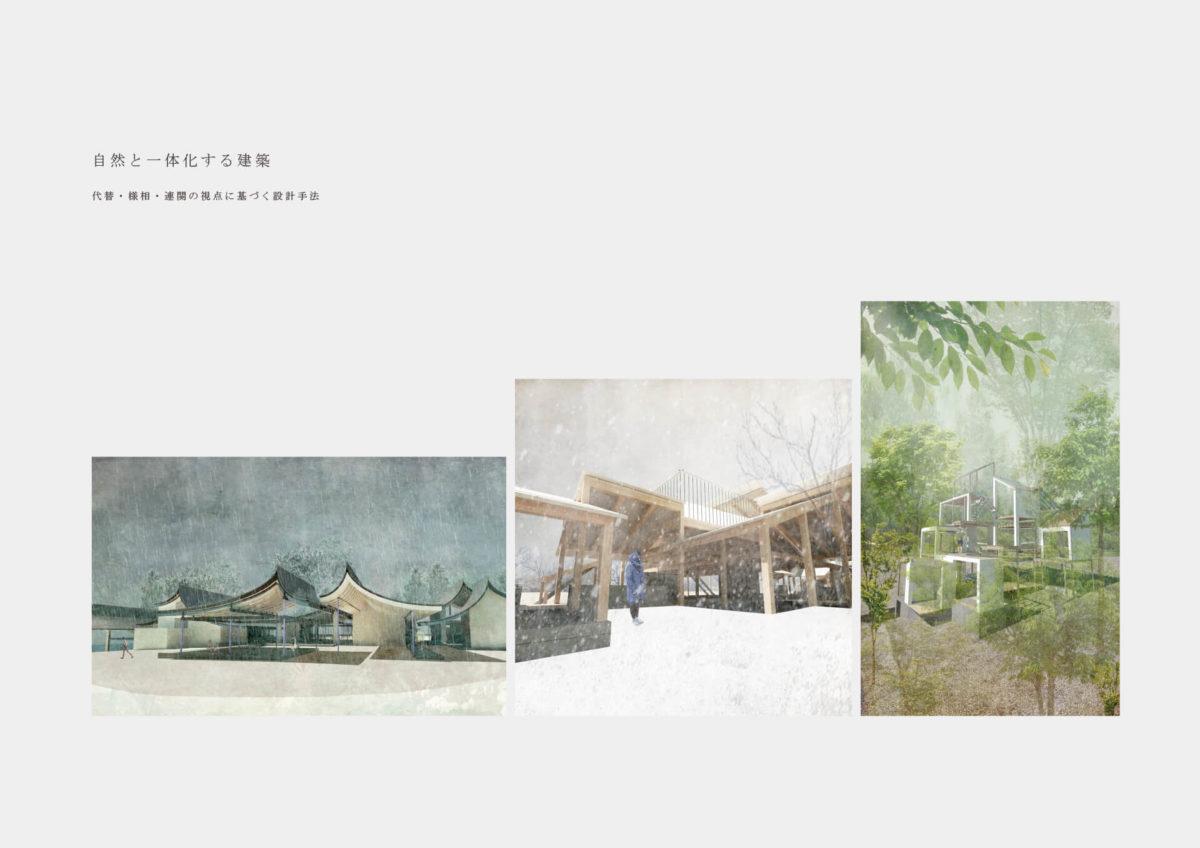 自然と一体化する建築 -代替・様相・連関の視点に基づく設計手法--1