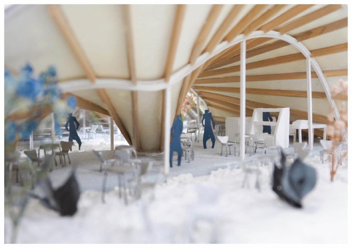 軌跡の洞窟 -ねじれた線織面による曲面建築の提案--13