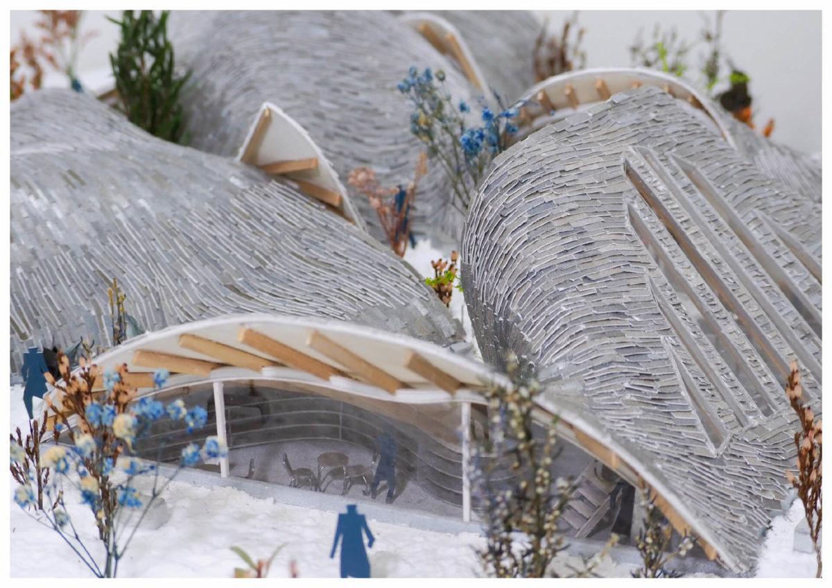 軌跡の洞窟 -ねじれた線織面による曲面建築の提案--20