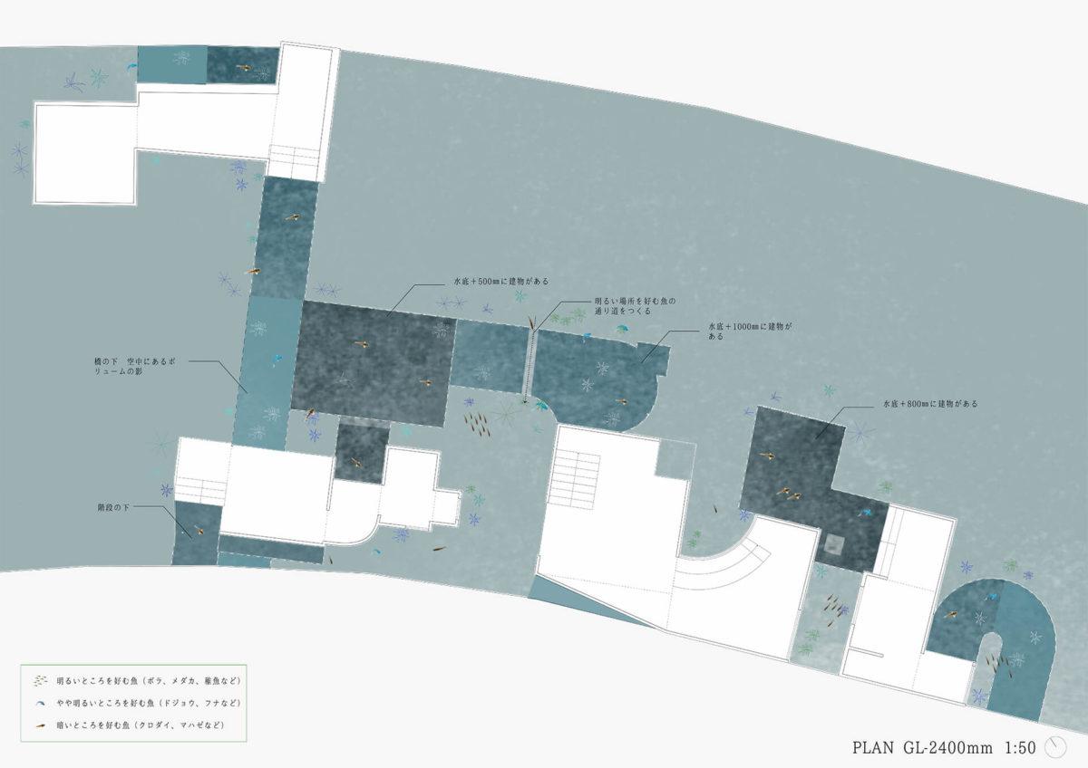 多様な光環境を用いた水辺空間の提案 -アルヴァロ・シザの公共建築における光環境の分析を通して--10