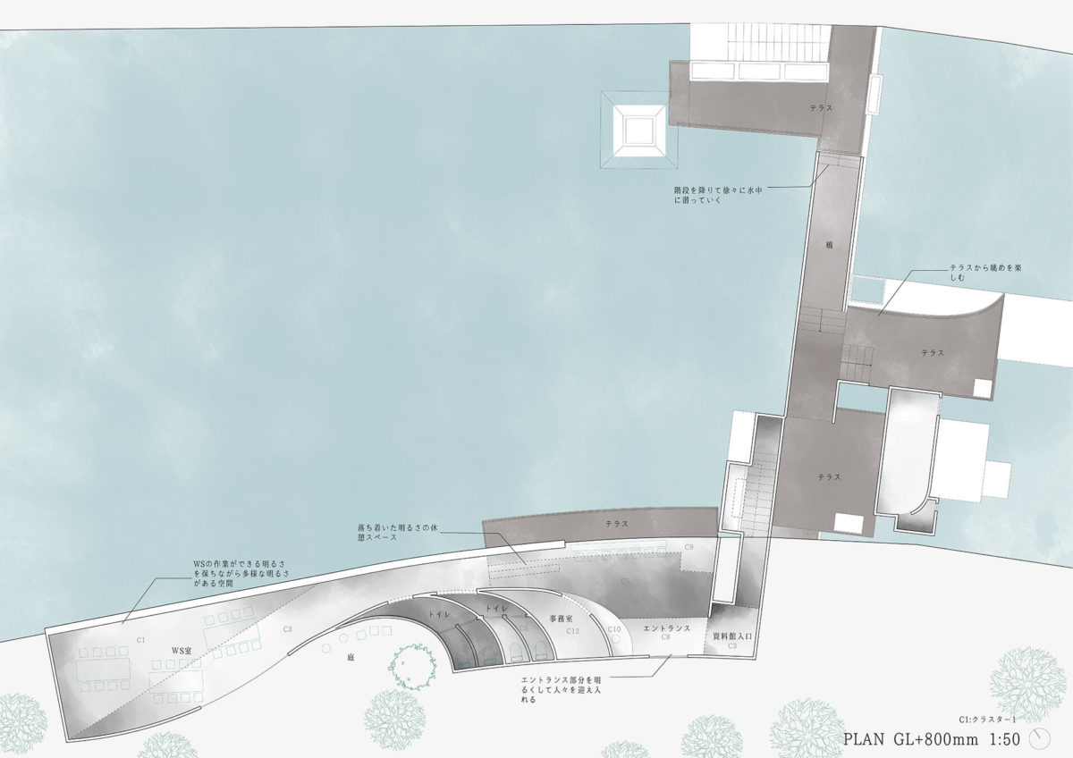 多様な光環境を用いた水辺空間の提案 -アルヴァロ・シザの公共建築における光環境の分析を通して--11