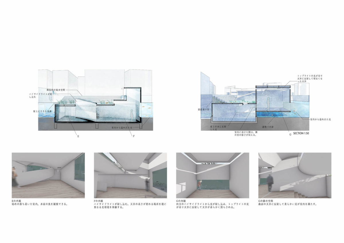 多様な光環境を用いた水辺空間の提案 -アルヴァロ・シザの公共建築における光環境の分析を通して--13