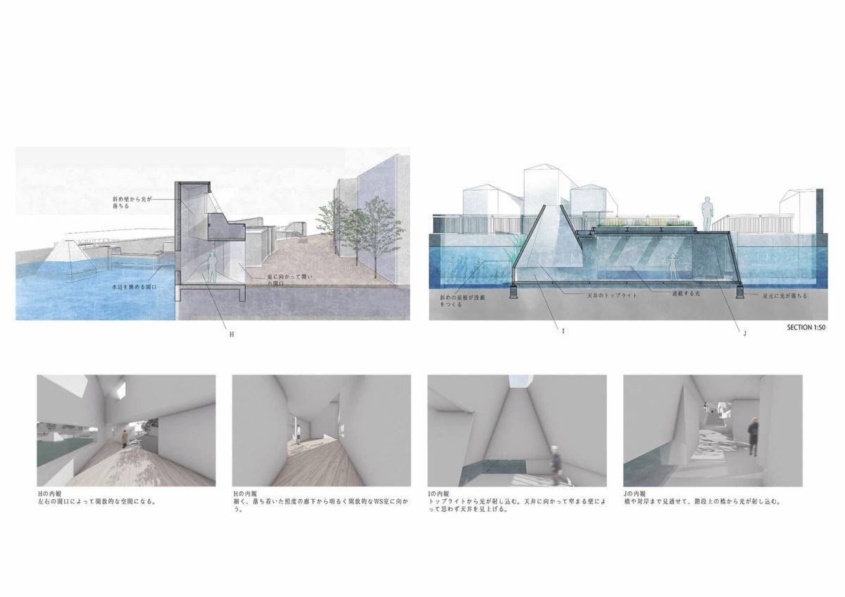 多様な光環境を用いた水辺空間の提案 -アルヴァロ・シザの公共建築における光環境の分析を通して--14