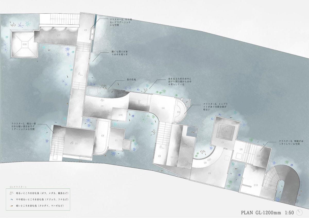 多様な光環境を用いた水辺空間の提案 -アルヴァロ・シザの公共建築における光環境の分析を通して--9